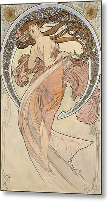 La Danse, 1898 Watercolour On Card Metal Print