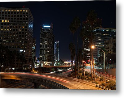 Metal Print featuring the photograph La Down Town 2 by Gandz Photography