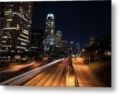 Metal Print featuring the photograph La Down Town by Gandz Photography