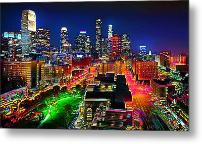 Metal Print featuring the painting La Experience by Jalai Lama