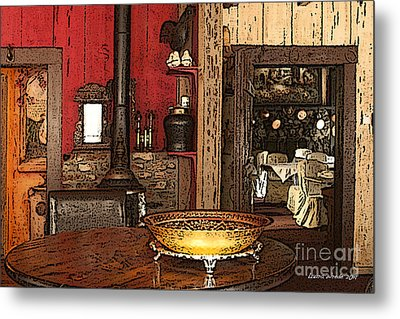 La Ferme Restaurant In Genoa Nevada Metal Print by Artist and Photographer Laura Wrede
