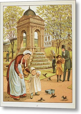 La Fontaine Des Innocents Metal Print by British Library