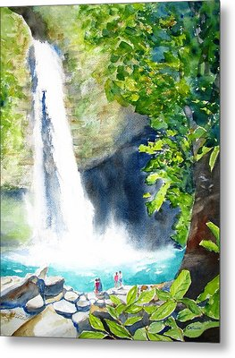 La Fortuna Waterfall Metal Print by Carlin Blahnik
