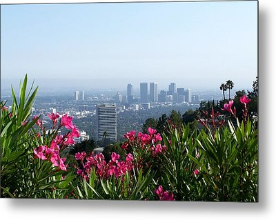 Metal Print featuring the photograph L.a. From Beverly Hills by Dany Lison
