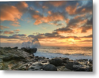 La Jolla Cove At Sunset Metal Print by Eddie Yerkish