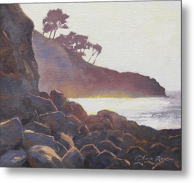 La Jolla Light Metal Print by Anna Rose Bain