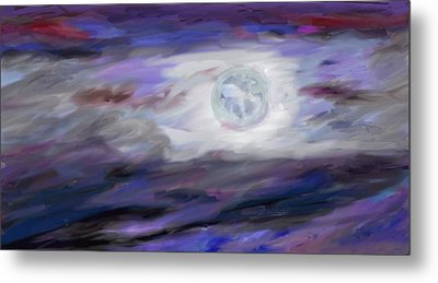La Luna Metal Print by Jeanne Fischer
