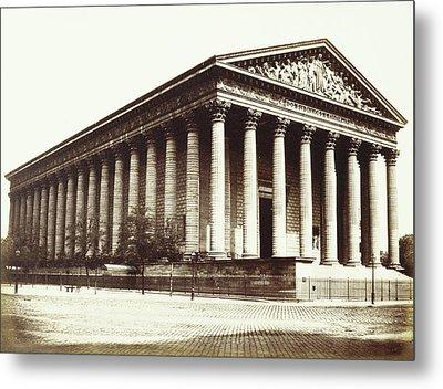 La Madeleine, Paris, France, Édouard Denis Baldus Metal Print