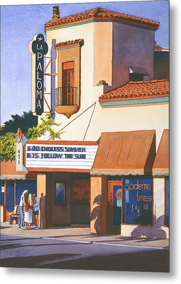 La Paloma Theater In Encinitas Metal Print by Mary Helmreich