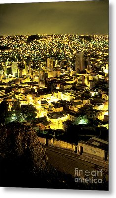 La Paz Cityscape Bolivia Metal Print