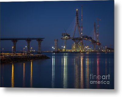 La Pepa Bridge Cadiz Spain Metal Print by Pablo Avanzini