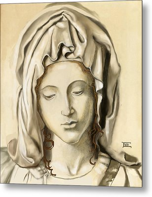 Metal Print featuring the painting La Pieta 2 by Terry Webb Harshman