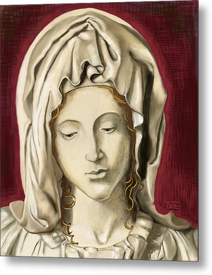 Metal Print featuring the painting La Pieta 3 by Terry Webb Harshman