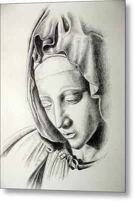 La Pieta Madonna Metal Print
