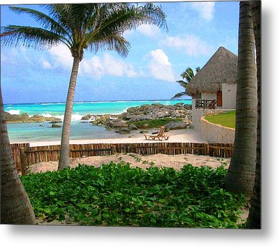 Metal Print featuring the photograph La Playa by Julia Ivanovna Willhite