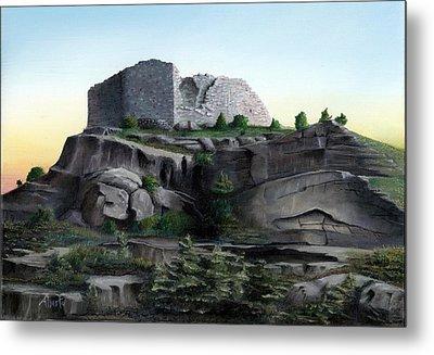 La Rocca De Monte Calvo Metal Print by Albert Puskaric