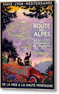 La Route Des Alpes Metal Print