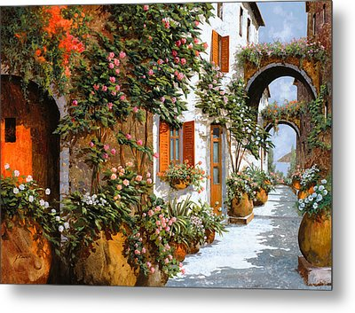 La Strada Al Sole Metal Print by Guido Borelli