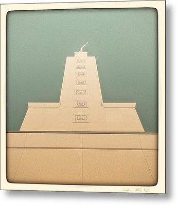 Metal Print featuring the photograph L.a. Temple Green by Kevin Bergen
