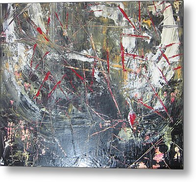 Metal Print featuring the painting La Vie by Lucy Matta