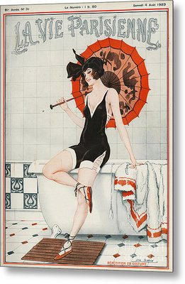 La Vie Parisienne  1923 1920s France Metal Print by The Advertising Archives