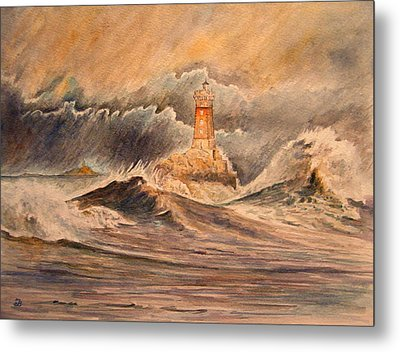 La Vieille Lighthouse Metal Print by Juan  Bosco