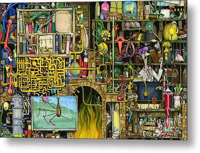 Laboratory Metal Print by Colin Thompson