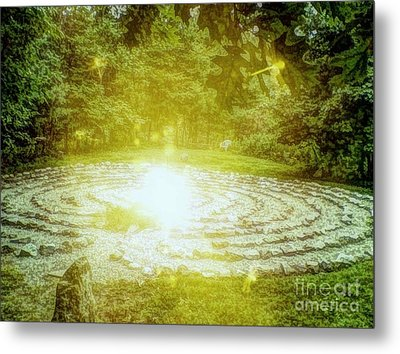 Labyrinth Myth And Mystical Metal Print by Becky Lupe