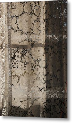 Metal Print featuring the photograph Lace Curtain 2 by Jocelyn Friis