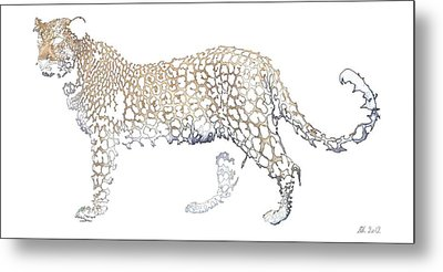 Metal Print featuring the digital art Lace Leopard by Stephanie Grant