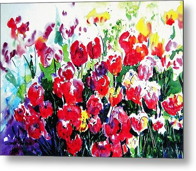 Laconner Tulips Metal Print by Marti Green