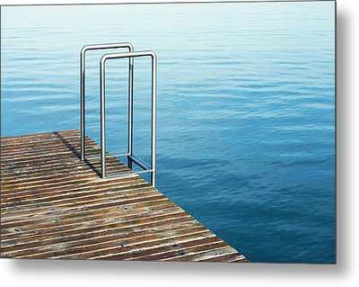 Metal Print featuring the photograph Ladder by Chevy Fleet