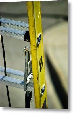 Ladder No 8 Metal Print by Christi Kraft