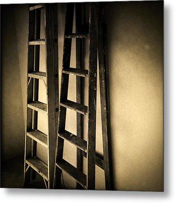 Ladders Metal Print by Les Cunliffe