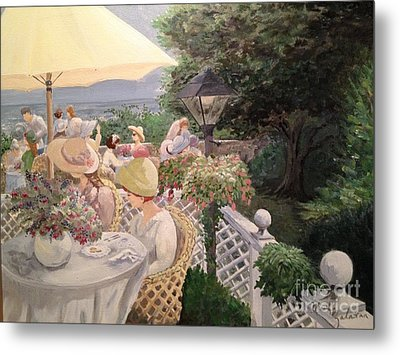 Ladies Luncheon Metal Print by Marilyn Zalatan