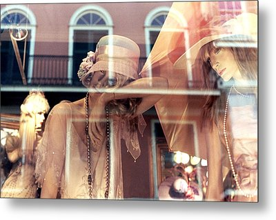 Metal Print featuring the photograph Ladies Of The French Quarter by Nadalyn Larsen