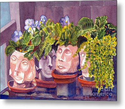 Metal Print featuring the painting Ladies Of The Garden by Sandy Linden