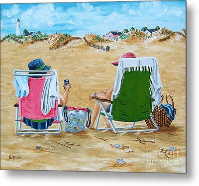 Ladies On The Beach Metal Print