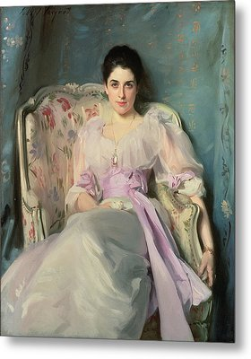 Lady Agnew Of Lochnaw, C.1892-93 Oil On Canvas Metal Print by John Singer Sargent