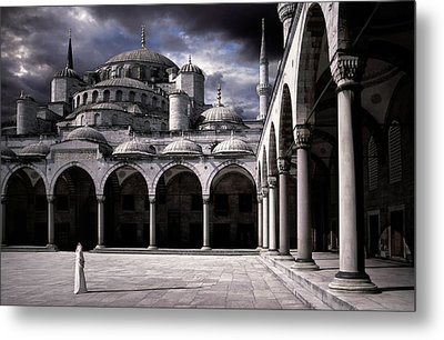 Lady And The Mosque Metal Print