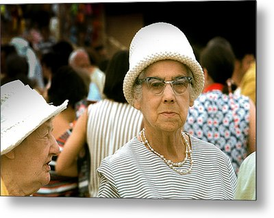 Lady At The Races Metal Print by Douglas Pike