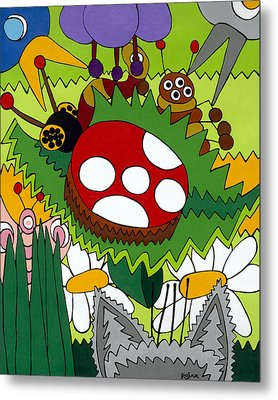 Lady Bug Metal Print by Rojax Art