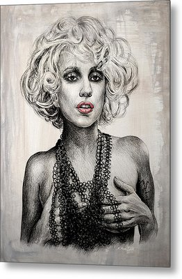 Lady Gaga Metal Print by Andrew Read