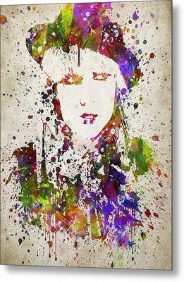 Lady Gaga In Color Metal Print by Aged Pixel
