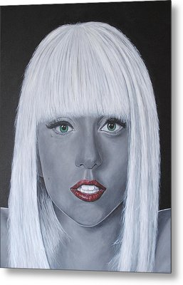 Lady Gaga 'poker Face' Metal Print by David Dunne