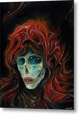 Lady Goddess Of The Night Metal Print by Robert Anderson