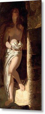 Lady Godiva  Metal Print by Edward Henry Corbould