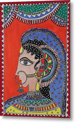 Lady In Ornaments Metal Print by Shakhenabat Kasana