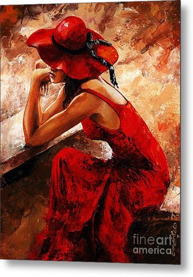 Lady In Red 21 Metal Print