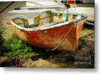 Lady In Red Metal Print by Rene Triay Photography